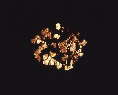 日本初の産金地、涌谷町で取れた砂金。その昔は、奈良の大仏にも使われました