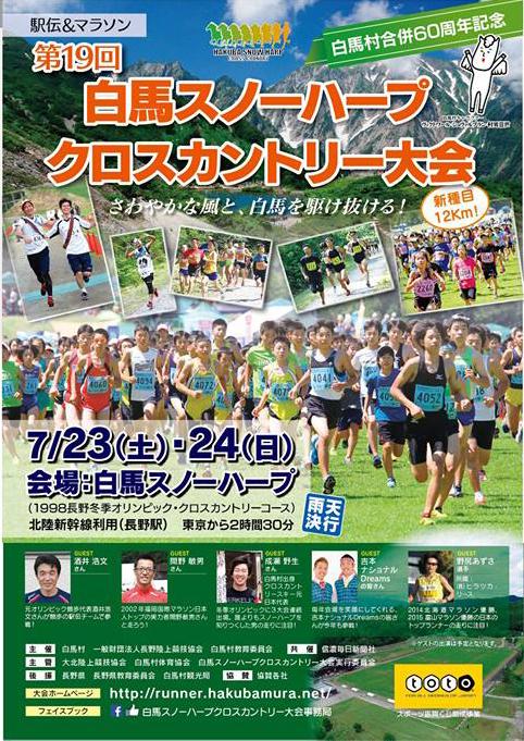 日本有数の規模に発展した「第19回白馬スノーハープクロスカントリー大会」のパンフレット