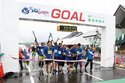 リレー競技とはいえ、「あっぴリレーマラソン」ではチーム全員でゴールできるルールを設けているので楽しさ倍増です