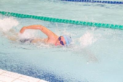 新たな大会の取り組みに賛同していただいたスペシャルオリンピックス東京のアスリートの皆さん。皆、力強い泳ぎを披露してくださいました