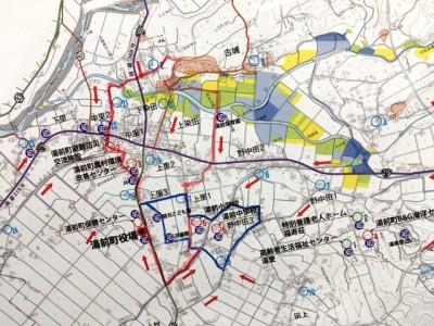 町中を散策できるカロリーマップ(案) ※上記マップは案であり、確定してはおりません。ルートが一部変更になる可能性があります。