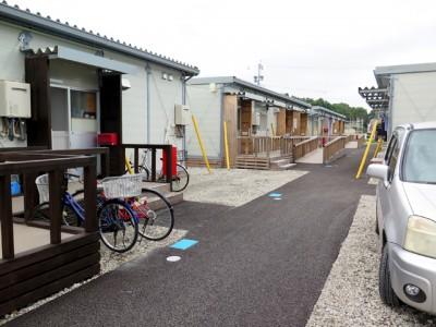 益城町に設けられた仮設団地の様子(2016年10月)。入居世帯数に対して、人影はまばらです