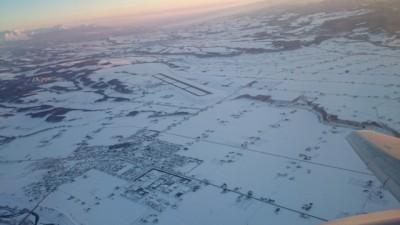 飛行機からの眺め…綺麗で見惚れます