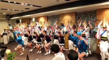徳島では阿波おどりで熱き歓迎を受けました★