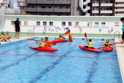 都内小学校での水辺の安全教室より