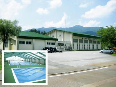 柳津町B&G海洋センターのプールと体育館