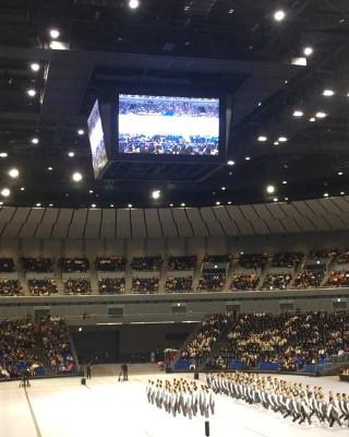 2017.11.15 日本体育大学 体育研究発表実演会で「集団行動」の実演