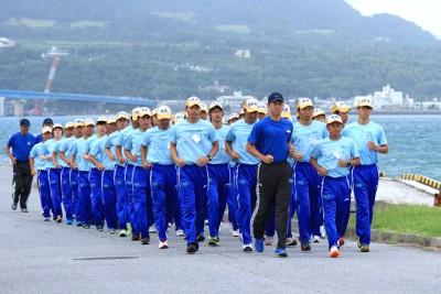 毎朝行うジョギング(沖縄研修)