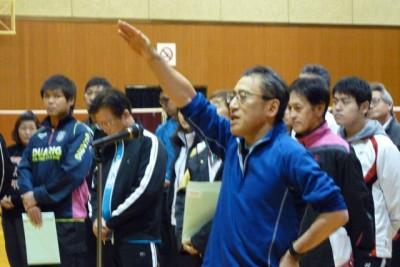 選手代表宣誓は「B.C.R」チームの坂本一さん