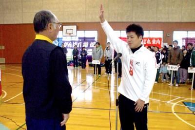 開会式で選手宣誓