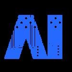 基盤のデザインをあしらった、AIのイメージロゴ