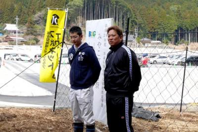 朝倉市甘木海洋センター 古賀博隆さん築上町海洋センター植樹リーダーの速水雄多さんにも、助っ人でご参加いただきました。