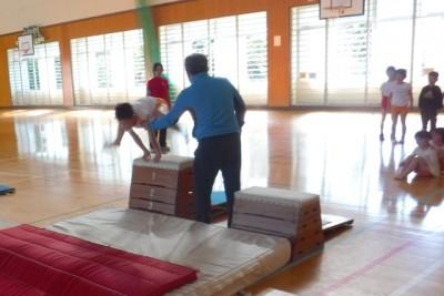 跳び箱の練習