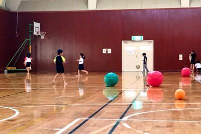 いろいろなボールを使って遊ぶ