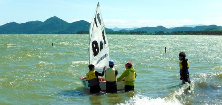 強風の中で挑んだOPヨットの訓練