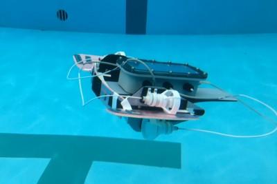 完成した水中ロボット!