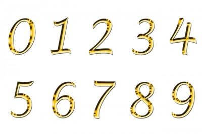 0~9までの数字の画像