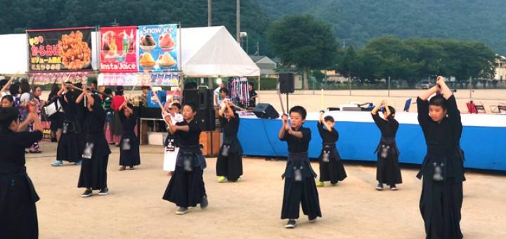 剣道デモンストレーション(吉永剣道スポーツ少年団)