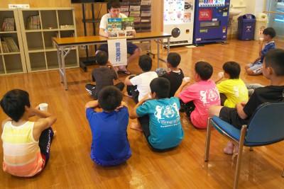 全国の海洋センターで行われている「B&G防災教室」の様子。自然の楽しさから自然災害時の対応を学びます