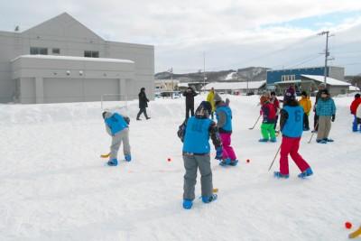 札幌市で発祥したスノーホッケー
