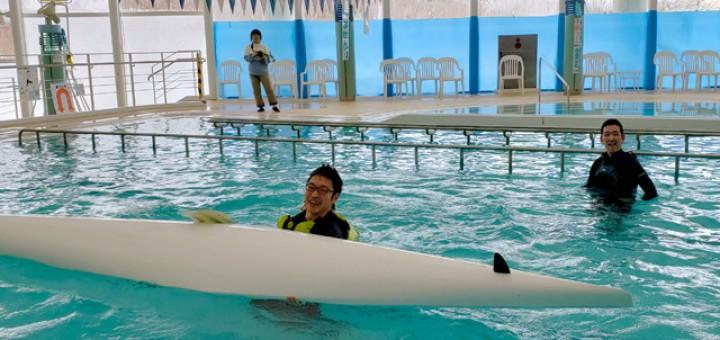 パラカヌー艇体験、やはり難しいようで