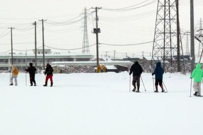 氷点下3度の寒さ、途中インターバルを入れながら約1時間歩いた