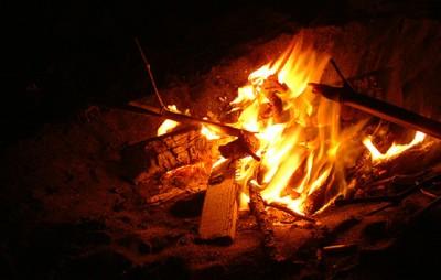 たき火の画像