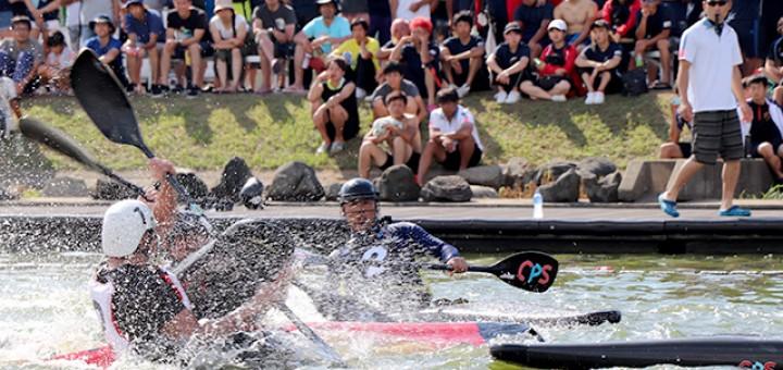 決勝戦!まさに「水上の格闘技」、激闘が繰り広げられました。