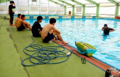 子どもたちにはこのセンターでプールを楽しんでほしい