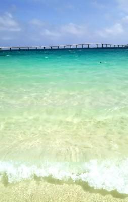 キラキラ輝く与那覇前浜ビーチ!デビュー戦が宮古島とは贅沢ですね。