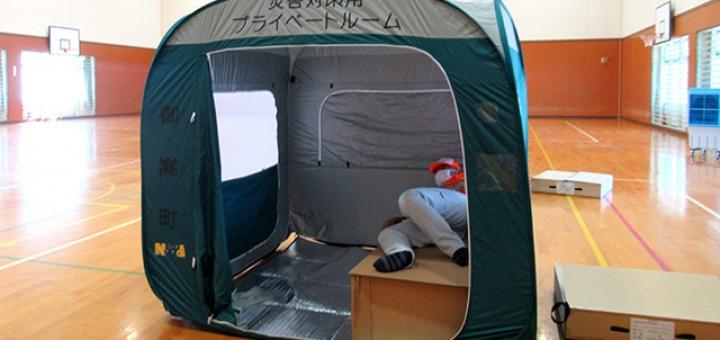実際に避難所開設時に使用する備品