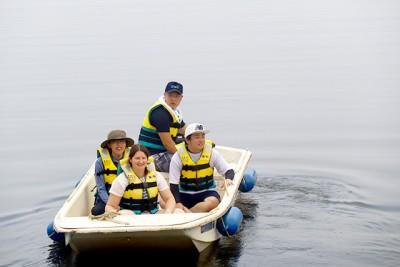 救助艇の乗艇体験も行いました