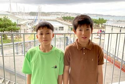 藤田選手(左)、堀野選手(右)