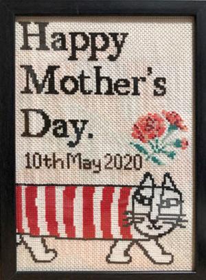 今年の母の日にプレゼントしたもの(母の好きなキャラクターを刺繍しました)