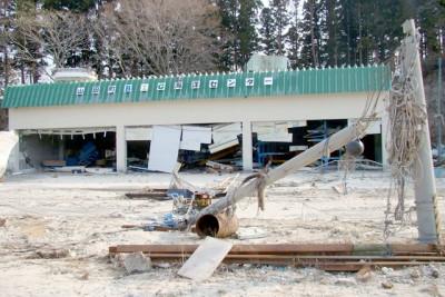 津波で壊滅した岩手県山田町海洋センター