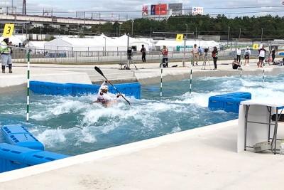 カヌー・スラロームセンター(東京都江戸川区) 写真はプレオリンピック大会(2019年10月)