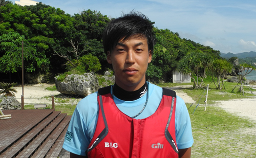 小豆島町内海B&G海洋センター指導員 竹田 恭平さん