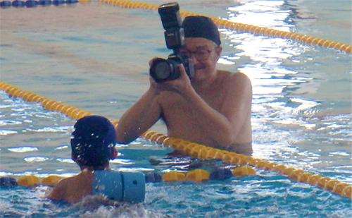水中写真でスイミングスクールの思い出づくり!