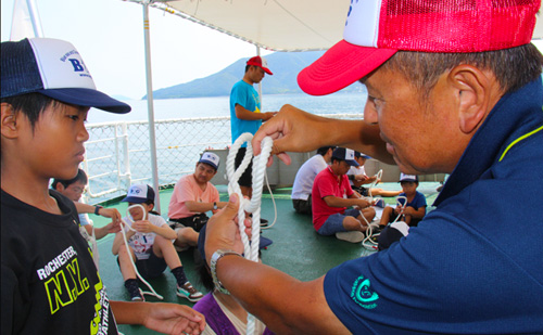 海まるごと体験!親子の絆深める「B&G2017親子3S体験キャンプ」in周防大島